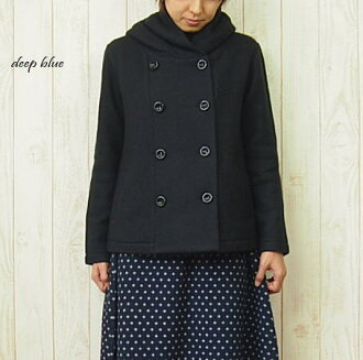 Sale DEEP BLUE (deep blue) 9 G compressed wool hood jacket 10P02jun13
