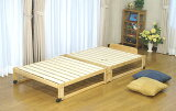 [我们]全品出色通风!挖掘处理这种类型的单人床折叠床的舒适和良好的睡眠自然赛普拉斯使用[折りたたみベッドロ−タイプひのきすのこ シングル]
