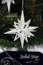 クリスマス オーナメント ソリッドスター(シルバー)【飾り 装飾 CHRISTMAS X'mas クリスマスオーナメント クリスマス雑貨】