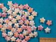 星型プラビーズオーロラピンク・オーロラ白