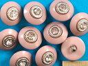 石入りボタン 渋ピンク×銀(18mm)