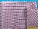 ナイロンチェック生地紫×オフ白×シルバーラメ...