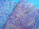 プリントチュール生地薄紫×キミドリ(68cmx 50cm)