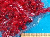 プラ丸ビーズ(約8mm)赤