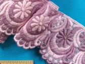 チュールレース薄ピンク×薄紫系