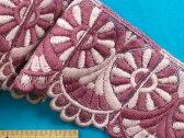 チュールレース濃渋紫×薄渋ピンク系
