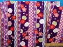 綿和柄プリント生地(サザンクロス)花 紫×赤