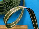 クラフトバンド(1.5cm幅 10m巻)グリン×オフ白