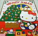 在庫処分・大幅値下げプリントパネルクロスハローキティー クリスマス