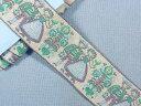 チロルテープ(ヨーロッパ系民族衣装)グレー×グリン