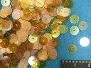 スパンコール(6mm)クリアオレンジ