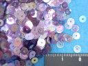 スパンコール(4mm)クリア紫