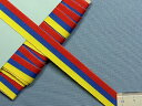 在庫処分・大幅値下げグログランリボン赤×青×黄