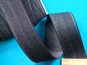 ストレッチインベル(アイロン接着)3.5cm巾 黒系