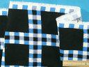 綿起毛プリント生地〈少々難あり〉黒×ブルー