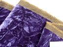 在庫処分・大幅値下げベルベット生地(モケット・シワ加工)紫