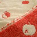 [ABD36]【りんご】ふんわり六重織ガーゼ生地(中厚)約140x200cm