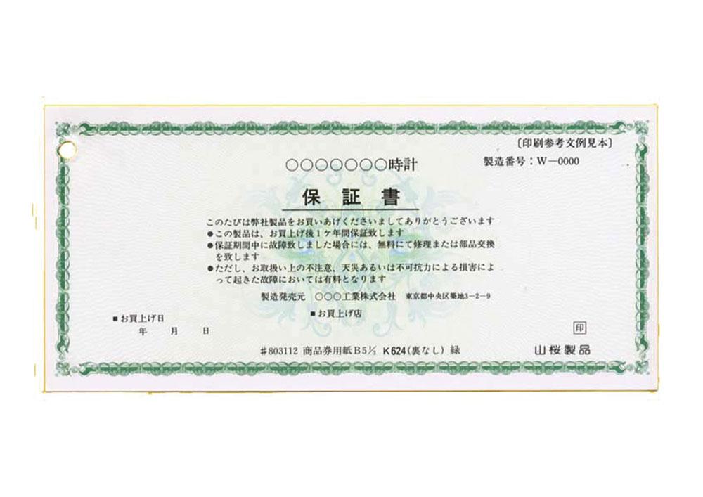 商品券 (187mm×87mm) 印刷はなし 100枚