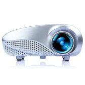 DBPOWER ミニLEDプロジェクター ホームシネマ 1080P HD 解像度:480*320 60lm AV/TV/VGA/HDMI/SD/USB対応できる リモコン付き 0.27KG小型
