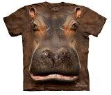 The Mountain Tシャツ Hippo Head (カバ 河馬 メンズ 男性用 男女兼用) S-L【輸入品】半袖