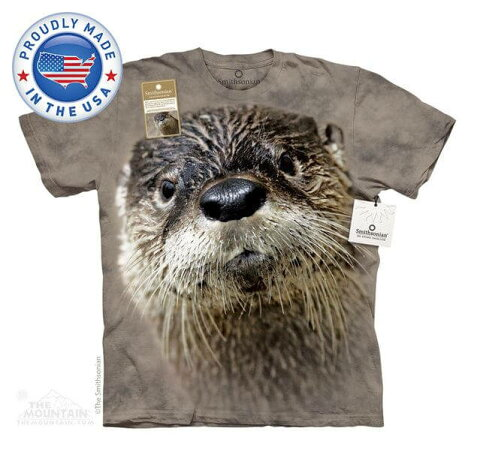 The Mountain Tシャツ The Smithsonian North American River Otter (The Smithsonian イタチ カワウソ メンズ 男性用 男女兼用) S-L【輸入品】半袖