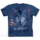 樂天商城 - The Mountain Tシャツ Patriotic Wolfpack ( オオカミ メンズ 男性用 男女兼用 ) XL-4L 【輸入品】 大きいサイズ 半袖