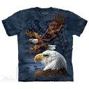 樂天商城 - The Mountain Tシャツ Eagle Flag Collage ( アメリカ ワシ イーグル メンズ 男性用 男女兼用 ) XL-4L 【輸入品】 大きいサイズ 半袖