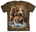 The Mountain Tシャツ Find 10 Brown Bears (クマ 熊 ヒグマ 日熊 メンズ 男性用 男女兼用) S-L【輸入品】半袖