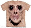 The Mountain Tシャツ Big Face Krem (SF エイリアン メンズ 男性用 男女兼用) S-L【輸入品】半袖