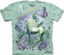 The Mountain Tシャツ Unicorn & Butterflies ( ファンタジー ユニコーン メンズ レディース 男女兼用) S-L 【輸入品】...