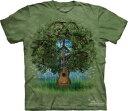 樂天商城 - The Mountain Tシャツ Guitar Tree ( ラブ&ピース 聖なる樹 メンズ 男性用 男女兼用 ) XL-4L 【輸入品】 大きいサイズ 半袖