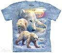 樂天商城 - The Mountain Tシャツ Sunrise Polar Bear Collage T-Shirt ホッキョクグマ 北極熊 (メンズ 男性用 男女兼用) S-2L【輸入品】半袖