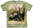 楽天なかのふぁくとりー 楽天市場店The Mountain Tシャツ Black Bear Family T-Shirt ベアー 熊 (メンズ 男性用 男女兼用) S-2L【輸入品】半袖 マウンテン 動物 アニマル