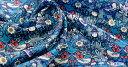 【LIBERTY・リバティプリント】国産ベンベルグ裏地(キュプラ)StrawberryThief(ストロベリー・スィーフ)3635061【生地・布】