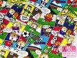 """【Trefle・トレフル】アメコミ風""""サッカー少年""""(オックスプリント・巾110cm)【生地・布】"""