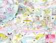 【Disney】ふしぎの国のアリス/お茶会(コットンシフォン)Alice in Wonderland【生地・布】G7275