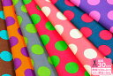 【入園入学用品の手づくりに!】CandyParty(キャンディパーティー)Large dot(ラージドット)【プリント生地・布】【KOKKA】