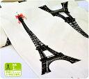 【パネル販売】La tour Eiffel(ラ・トゥール・エッフェル)エッフェル塔エッフェル塔と赤いリボン♪【10号キャンバス】【生地・布】【ノルディック・北欧風】【KOKKA】