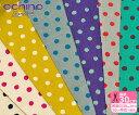 【echino Standard】Dot(綿麻キャンバス)手描き風のドット・水玉模様【生地・布】JG-90010-14