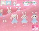 【プティデポーム】バレリーナうさぎ綿麻キャンバス(グレー・水色・ピンク)putidepome【生地・布】PTMF-104