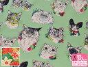 【USAコットン】【柄違い】ミャオ ミャオ(8452)/ティキ ガーデン(8362)落ち着きのあるニュアンスカラーの猫と花日本のシーチング程度のやや薄手の生地・綿100%・110巾【布・生地】【Alexander Henry Fabrics】