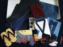 紳士用 ○洗えるアンサンブル 着物セット11点 Mサイズ 紺系