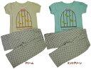 【PAL HOUSE】半袖Tシャツおしゃれパジャマ(7分パンツ)【鳥かご・ドット/100-130・綿100%】