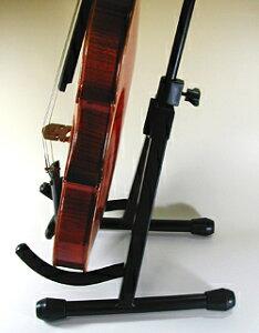 楽弓もかけられるバイオリン・ビオラスタンドSA-20