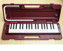 楽天e-shopNAKAZEN中善楽器【送料無料】で断然お得!!ヤマハピアニカP-37D マルーン (本体+ケース+ホース+唄口)のセットです。 【鍵盤ハーモニカ】