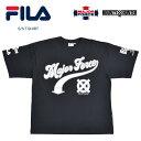 【割引クーポン配布中】 FILA HERITAGE (フィラ ヘリテージ) × MAJORFORCE (メジャーフォース) × BOUNTY HUNTER (バウンティハンター) Tシャツ S/S T-SHIRT 半袖 カットソー トップス メンズ M-XL ブラック FS0107 【単品購入の場合はネコポス便発送】【RCP】