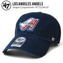 47BRAND (フォーティーセブン ブランド) ANGELS COOPERSTOWN 47 CLEAN UP CAP クリーンナップ キャップ 帽子 ストラップバックキャップ クーパーズタウン メンズ レディース ユニセックス 紺 ネイビー