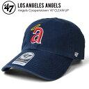47BRAND (フォーティーセブン ブランド) Angeles Cooperstown 47 CLEAN UP CAP キャップ クリーンナップ 帽子 ストラップバックキャップ クーパーズタウン メンズ レディース ユニセックス 紺 ネイビー