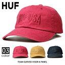 ショッピングハット 【割引クーポン配布中】 HUF (ハフ) キャップ TEAM CURVED VISOR 6-PANEL HAT CAP 帽子 ストラップバックキャップ 6パネルキャップ ストリート スケート 【あす楽対応】【RCP】