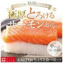 [冷蔵]極上 サーモン寿司を福井から【中サイズ】届いたその日が旬の味わい [生鯖寿司